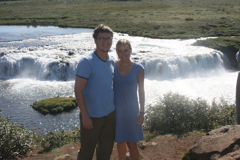 Tyler & Kjirsten at Faxi waterfall.