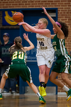 Mt Tabor Spartans vs West Forsyth Titans Women's Varsity Basketball 2/1/2014