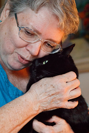 Carolyn Goode and Myrna Magby and cats Sept 6 2018