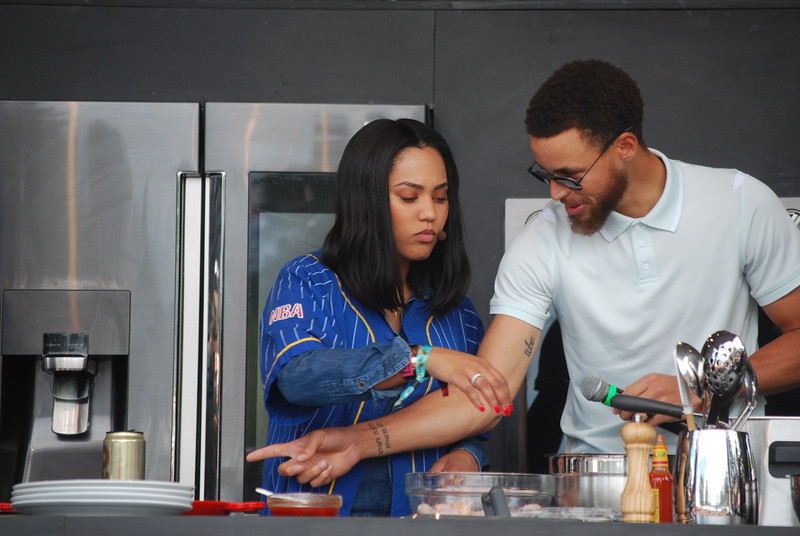 Ayesha Curry of the Food Network and husband Steph