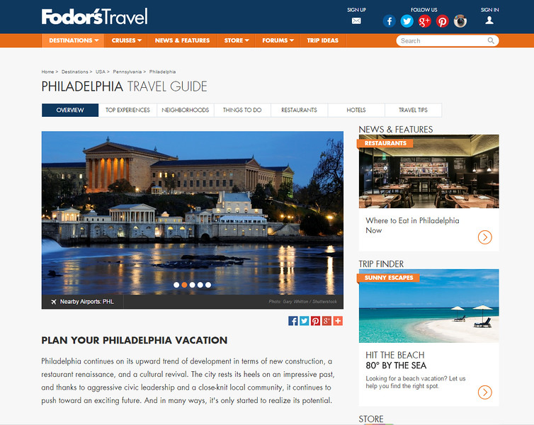 Fodor's Online Philadelphia Travel Guide - 2/2/15