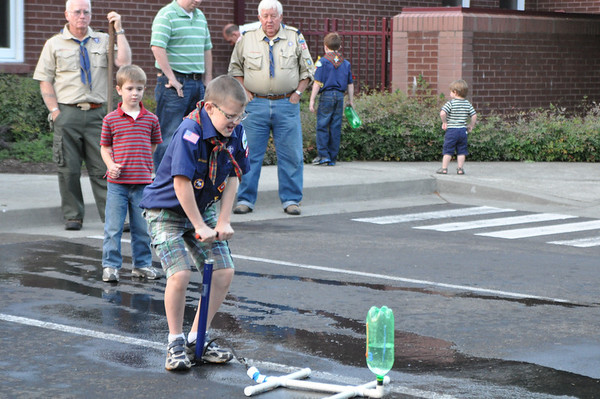 Cub Scout Water Bottle Rockets