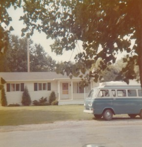 1971 Ford Van & House on Second St