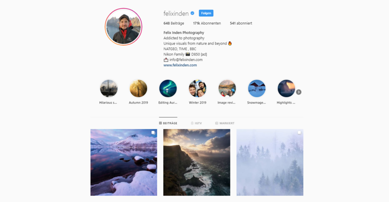 How to build up your Instagram as a landscape photographer