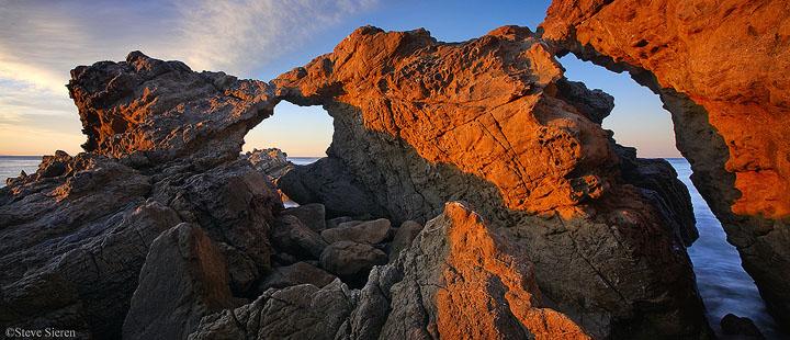 Solstice Arch - Sea Arch, Geologic Formation Pacific Coast Highway - Malibu Santa Monica Mountains Southern California near Los Angeles