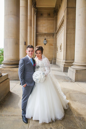 Nikita and Jordan's wedding photography Leeds Town Hall