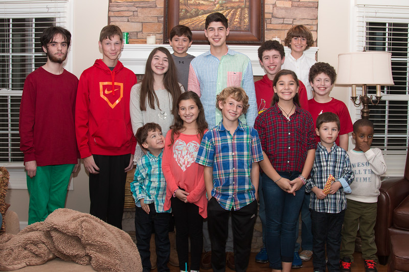 Cousins at Thanksgiving 2015