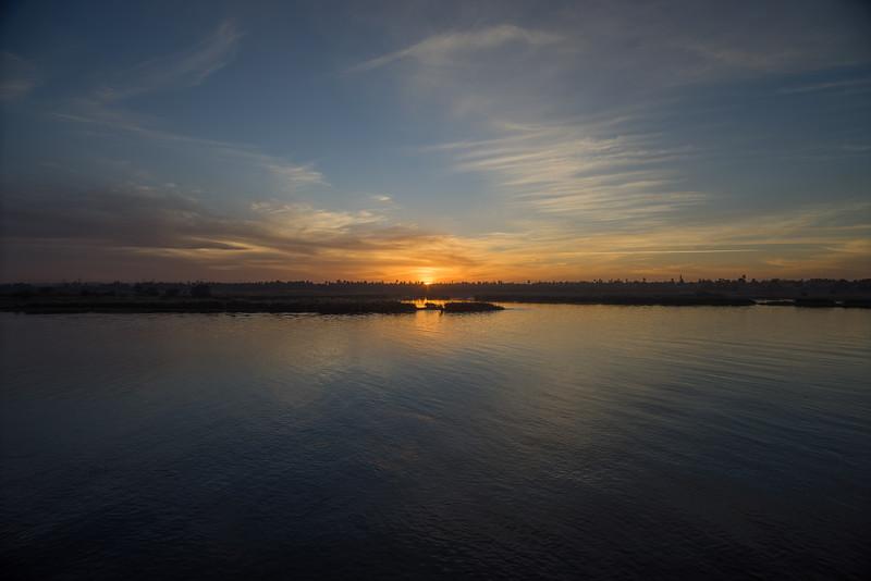 Ocaso en el Nilo