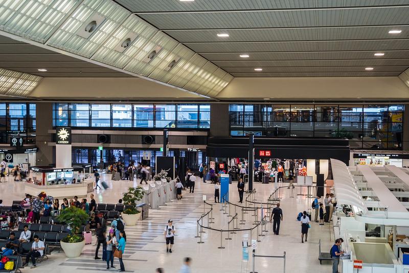 Narita Airport departures hall. Editorial credit: Uskarp / Shutterstock.com