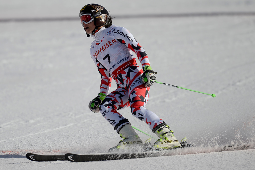 . BEAVER CREEK, CO - FEBRUARY 12: Anna Fenninger of Austria competes during the ladies\' giant slalom. FIS Alpine World Ski Championships 2015 on Thursday, February 12, 2015. (Photo by AAron Ontiveroz/The Denver Post)