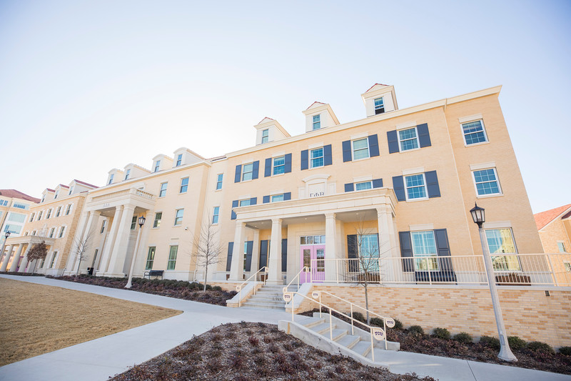 Gamma Phi Beta House at TCU in Fort Worth, Texas on January 28, 2018. (Photo/Sharon Ellman)