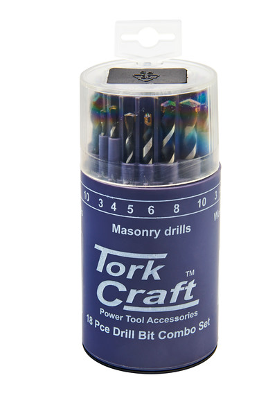 Gelmar Masonary Drills Tork Craft 18 Pce Drill Bit Combo Set