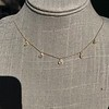 1.01ctw Trillion Rose Cut Diamond Scatter Necklace 22