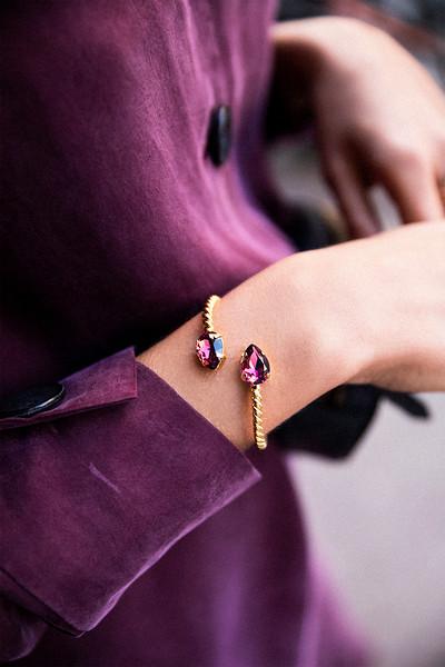 Mini Drop Bracelet / Burgundy