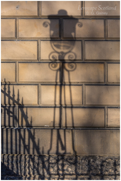 Lamp shadow, Bute House, Charlotte Square