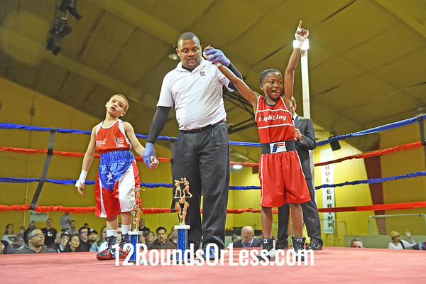 Bout 2 Marcellus Smith(Blue Gloves), MLK Civic Cntr/Premier BC -vs- Michael Rivera(Red Gloves), Strongstyle/Old School, 60 lbs, Pee Wee