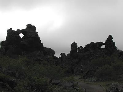 Dimmuborgir: Myvatn, Iceland