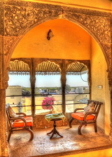One of many idyllic sitting areas at Fort Barli