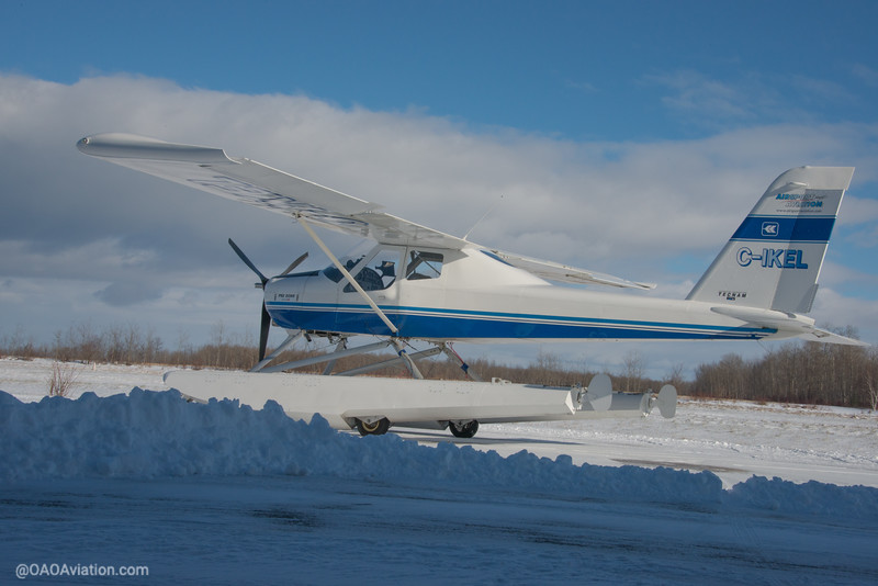 Collingwood Airport Winter Snow Tecnam p92 Echo CIKEL (6 of 6).jpg