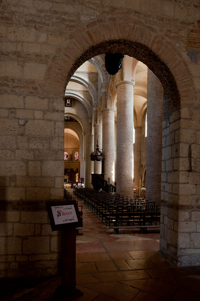 Tournus, Saint-Philibert Abbey Nave Columns From The Narthex