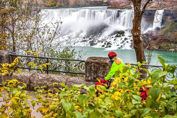 Niagara Falls -- Canadian Side - Biker & Scenics