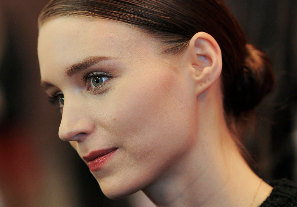 ". Rooney Mara, a cast member in ""Ain\'t Them Bodies Saints,\"" is interviewed at the premiere of the film at the 2013 Sundance Film Festival, Sunday, Jan. 20, 2013, in Park City, Utah. (Photo by Chris Pizzello/Invision/AP)"