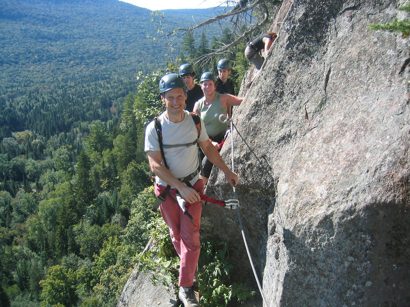 Via ferrata du Diable, park national du Mont-Tremblant