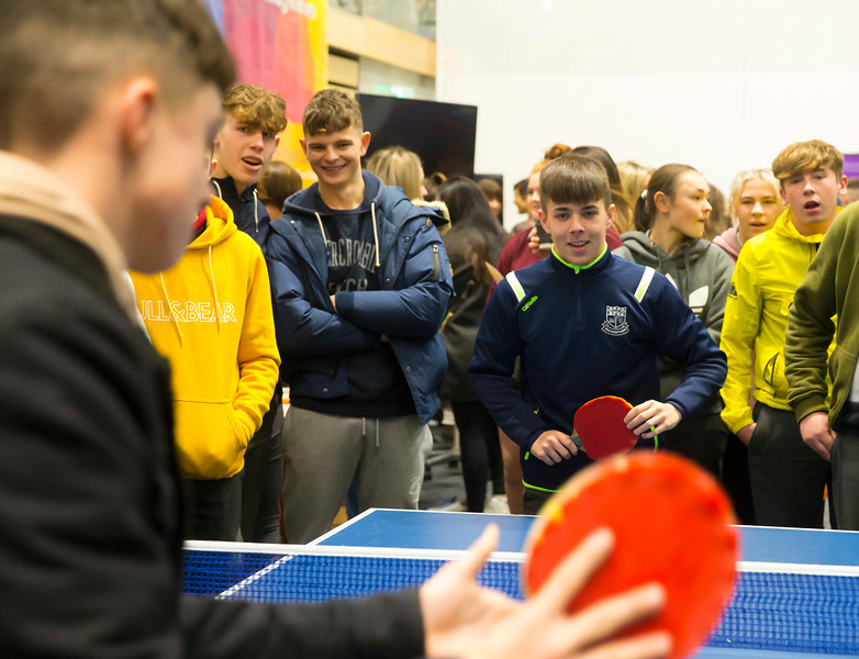 FREE TO USE IMAGE. Pictured at WIT's Autumn Open Days in the WIT Arena. Picture: Patrick Browne  WIT's Autumn Open Days in the WIT Arena were on Friday, 23 November and Saturday, 24 November 2018. The Schools Open Day on Friday attracted thousands of secondary school students.  The event focused on undergraduate entry for September 2019 but also showcases the opportunities for postgraduate learning and research and flexible study through our School of Lifelong Learning & Education.  The institute has 70 CAO courses across a range of discipines including,business,engineering and architecture, sports and nursing, law, social sciences, arts and psychology, the creative & performing arts, languages, tourism and hospitality, science and computing.   WIT's Autumn Open Days included presentations on all CAO courses, including new courses for 2019, as well as the opportunity to experience what it would be like to study on those courses and talk to lecturers directly.