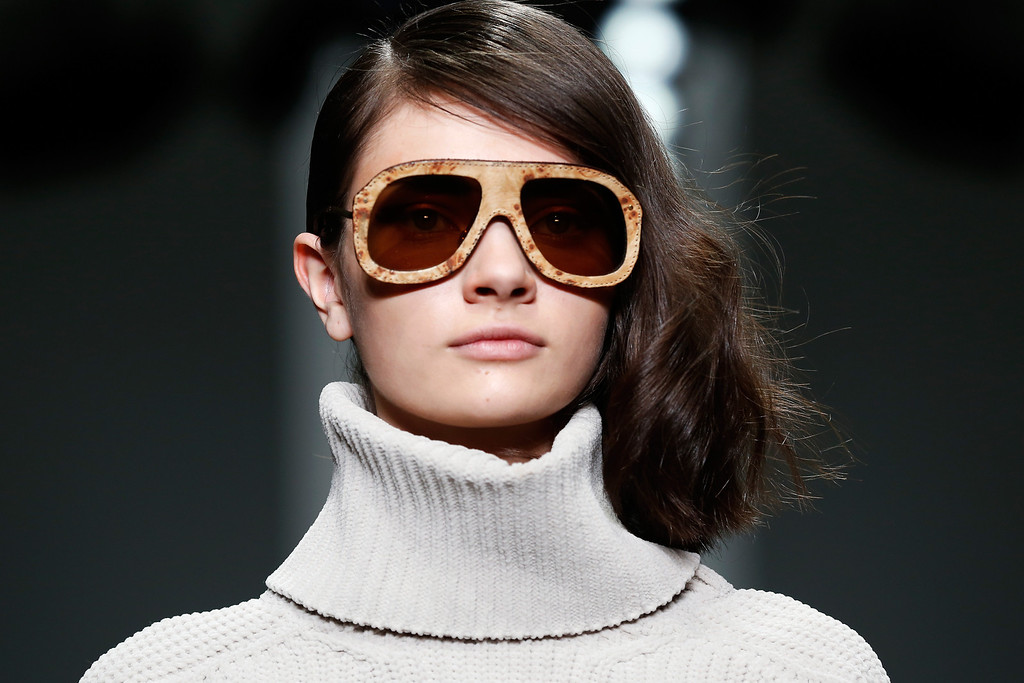 . A model walks the runway at the Lucas Nascimento show at London Fashion Week AW14 at Somerset House on February 15, 2014 in London, England.  (Photo by Tristan Fewings/Getty Images)