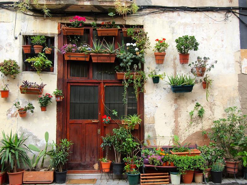Door in Barcelona's El Born neighborhood
