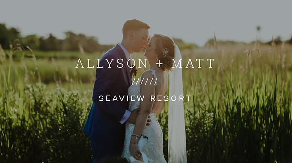 ALLYSON + MATT ////// SEAVIEW RESORT