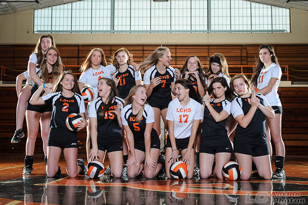 Volleyball Team Shoot