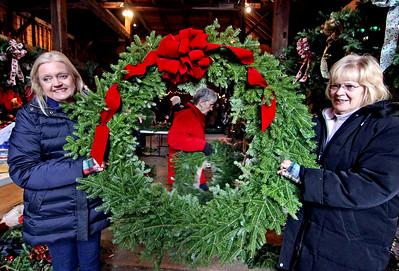 Groton Women's Club making holiday wreaths - 11/28/2018
