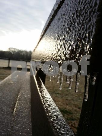2/12/14 Sleet & Ice Hit Tyler by Multiple Photographers.