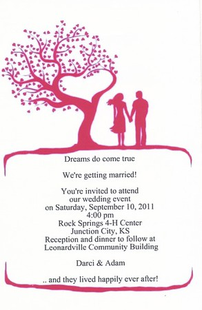 2011 Adam & Darci's Wedding Invitations