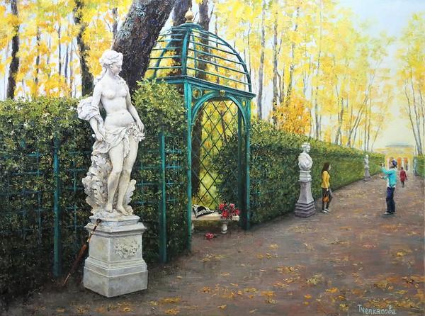 """The Summer Garden"" (oil on canvas) by Tatiana Chepkasova"