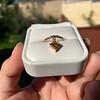 .84ct Fancy Deep Orange-Yellow Shield Shape Diamond Charm Ring 13