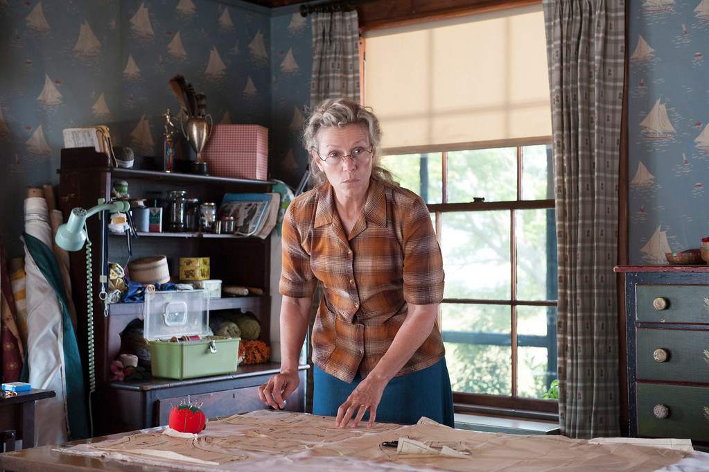 """. In this image released by HBO, Frances McDormand appears in a scene from \""""Olive Kitteridge.\"""" McDormand was nominated for a Golden Globe for best actress in a TV movie or mini-series for her role on Thursday, Dec. 11, 2014. The 72nd annual Golden Globe awards will air on NBC on Sunday, Jan. 11. (AP Photo/HBO, Jojo Whilden)"""