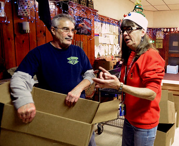 12/22/17 American Legion Post #206 pack food collected in annual drive