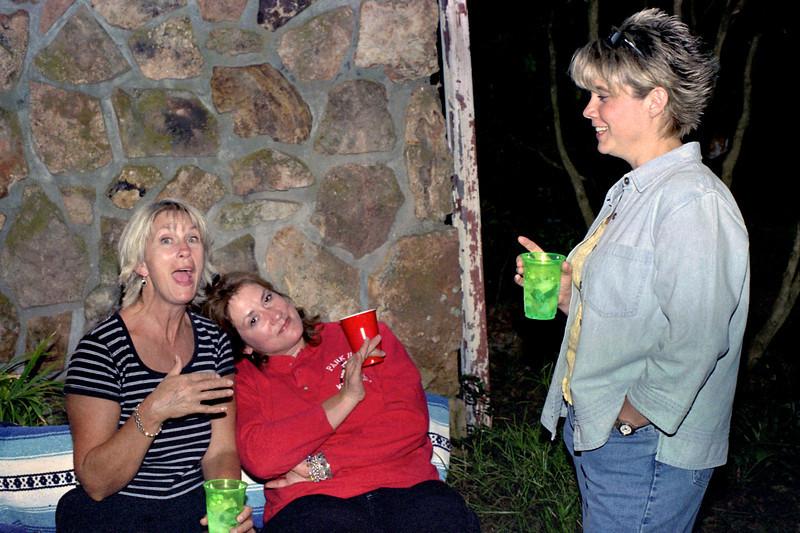 Charla, Susan and Tammy at a bonfire party at Gary & Rita's September 2004