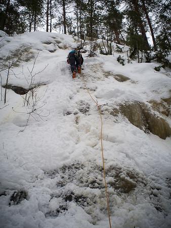 Ice-climbing at Laivonsaarella 7.2.2016