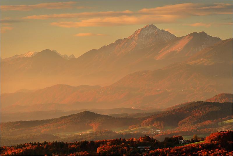Mt. Storžič seen from Grmača pass