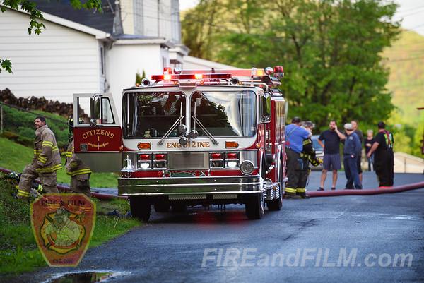 Schuylkill County - Palo Alto - Garage Fire - 05/02/2017