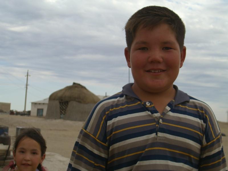 Chubby Boy and Sister - Jerbent, Turkmenistan