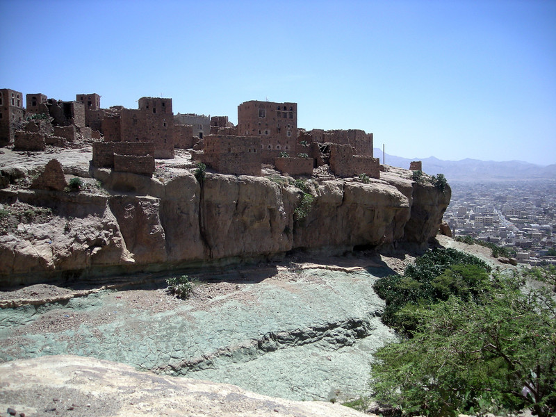 the nearly deserted village of Beit Baws, near Sana'a