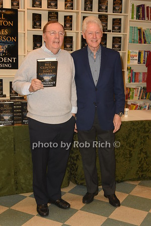 President Bill Clinton and Author Robert Patterson book signing at Huntington Book Revue in Huntington on 6-28-18.  all photos by Rob Rich/SocietyAllure.com ©2018 robrich101@gmail.com 516-676-3939