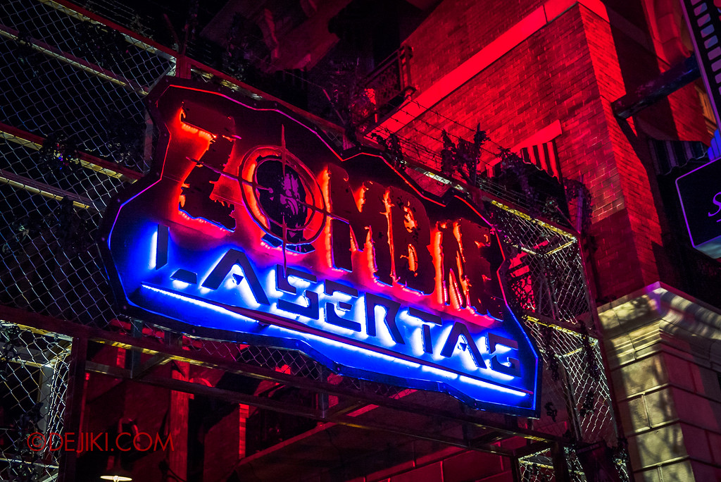 Halloween Horror Nights 7 Zombie Laser Tag - Entrance marquee