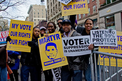 Marching For Voter Rights - Dec. 10, 2011