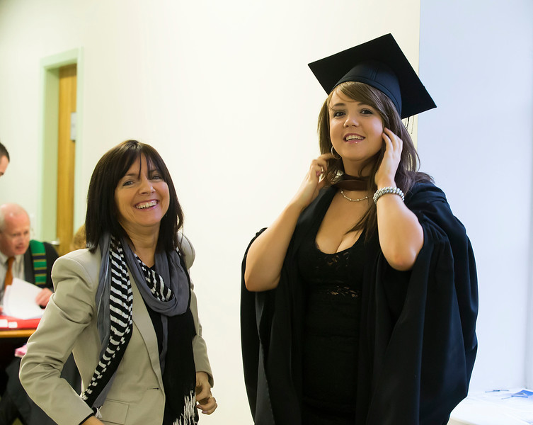 Pictured Vicky Byrne, Wexford who graduated in Bachelor of Business (Honours), also in photo is her mum Siobhan. Picture: Patrick Browne