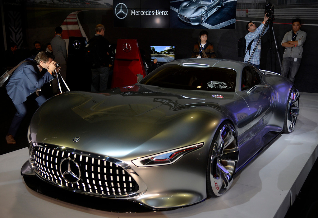 . Nov 20,2013 Los Angeles CA. USA. Mercedes Benz AMG Vision Gran Turismo concept car on display during the 2013 Los Angeles Auto Show. Photo by Gene Blevins/LA Daily News